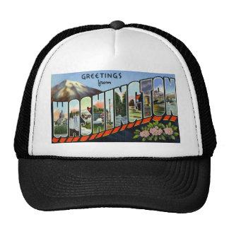 Greetings from Washington Mesh Hat