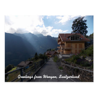 Greetings from Wengen Switzerland 1 Postcard