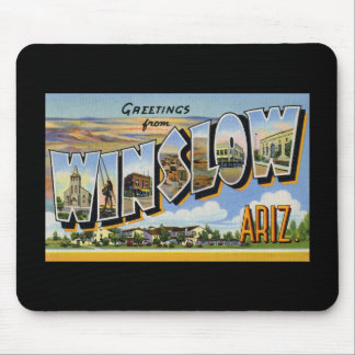 Greetings from Winslow Arizona Mouse Pads