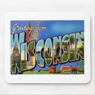 Greetings From Wisconsin WI USA Mouse Pad