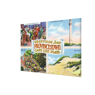 Greetings From with Scenic Scenes Canvas Print