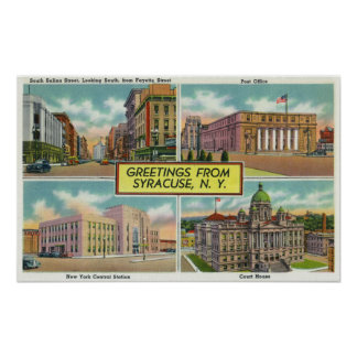 Greetings From with Scenic Views Poster