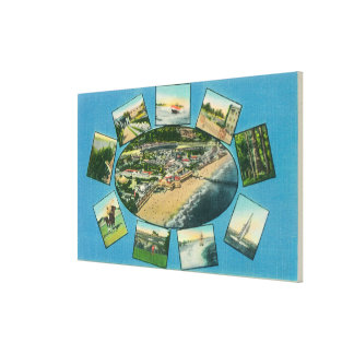 Greetings From with Scenic ViewsSanta Cruz, CA Canvas Print