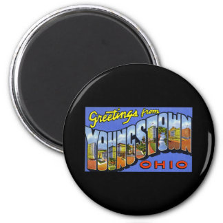 Greetings from Youngstown Ohio 6 Cm Round Magnet