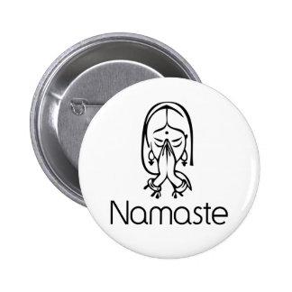 Greetings - Namaste 6 Cm Round Badge