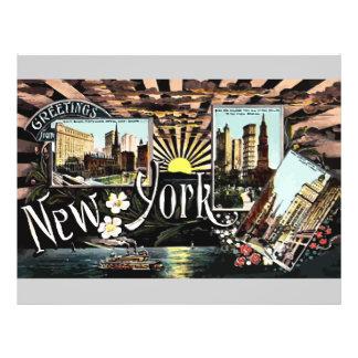 Greetings New York Vintage Flyer Design