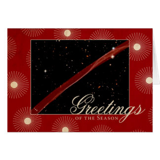 Greetings of the Season Hubble Space Ribbon Greeting Card