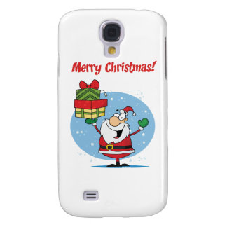 Greetings With Santa Claus Galaxy S4 Covers