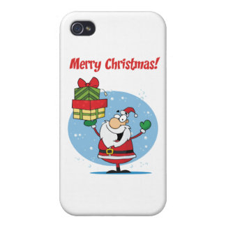 Greetings With Santa Claus iPhone 4 Cover