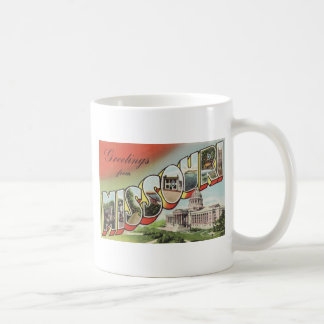 Greetins from Missouri Large Letter vintage theme Coffee Mug