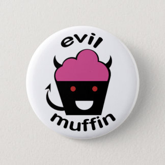 Greg the Evil Muffin 6 Cm Round Badge
