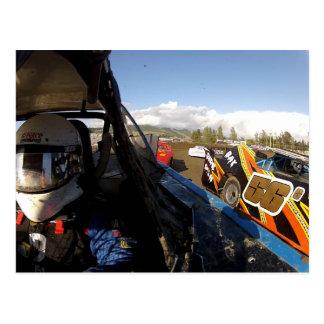 Gregg Racing action photo Postcard