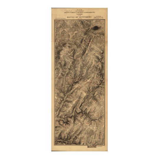 Gregg & Stuart's Cavalry Battle of Gettysburg Map