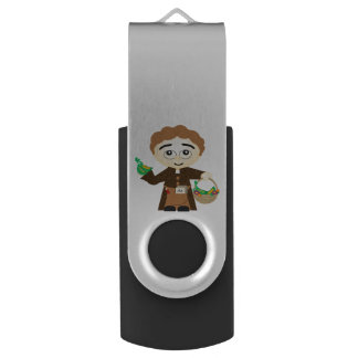 Gregor Mendel Swivel USB 2.0 Flash Drive