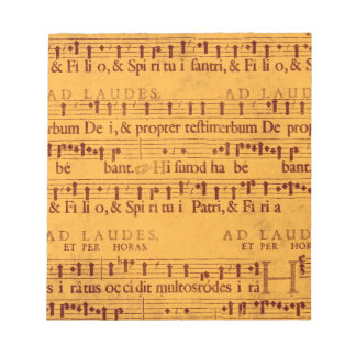 Gregorian chant music score notepad