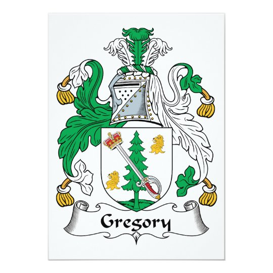 Gregory Family Crest Card