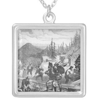 Gregory Gold Diggings, Colorado Silver Plated Necklace