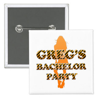 Greg's Bachelor Party Pinback Buttons