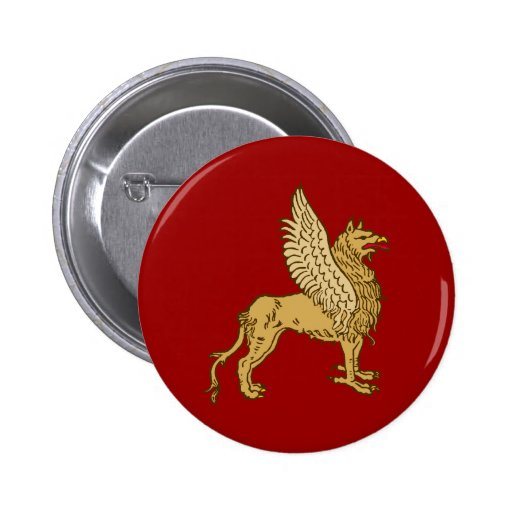 Greif griffin gryphon 6 cm round badge