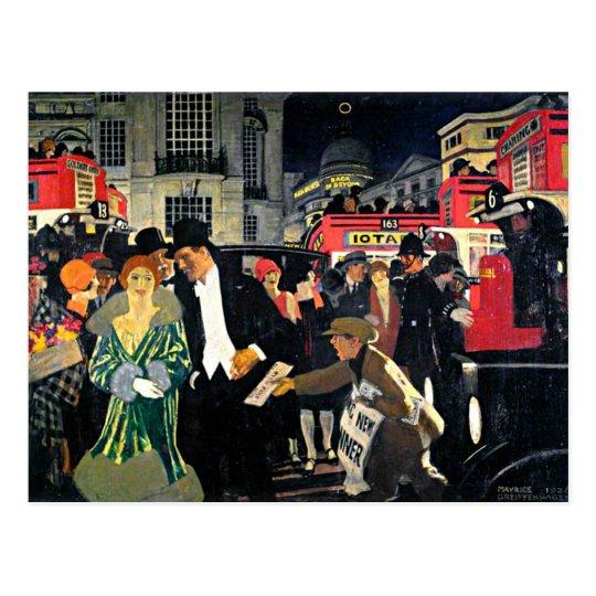 Greiffenhagen - London: Piccadilly Postcard
