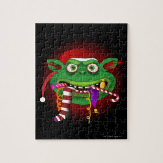 Gremlin Eating Candy Jigsaw Puzzle