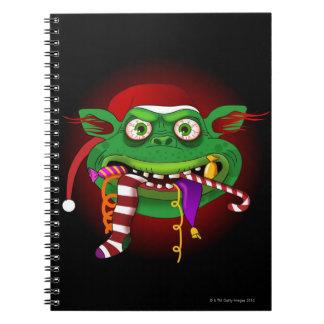 Gremlin Eating Candy Spiral Notebook