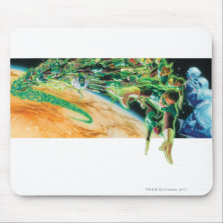 Gren Lanterns Flying in Space Mouse Pad