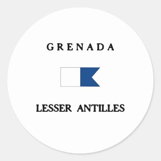 Grenada Alpha Dive Flag Classic Round Sticker