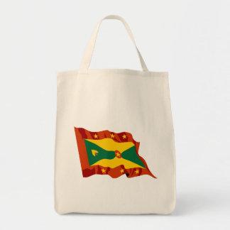 Grenada Flag Tote Bags