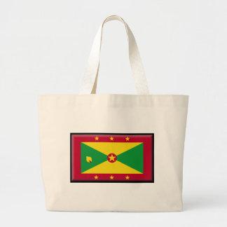 Grenada Flag Canvas Bags