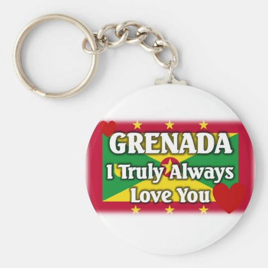 Grenada Flag Basic Round Button Key Ring