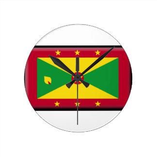 Grenada Flag Wall Clocks