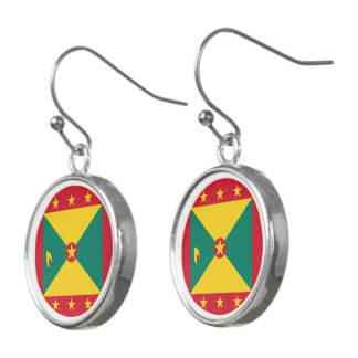 Grenada Flag Earrings