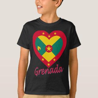 Grenada Flag Heart T-Shirt
