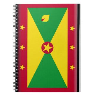 Grenada Flag Spiral Note Books