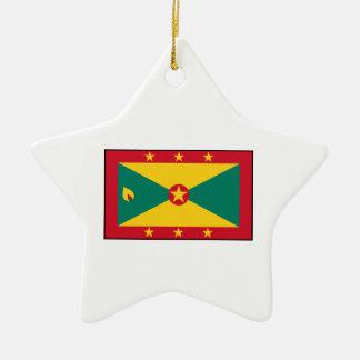 Grenada – Grenadian Flag Christmas Ornaments