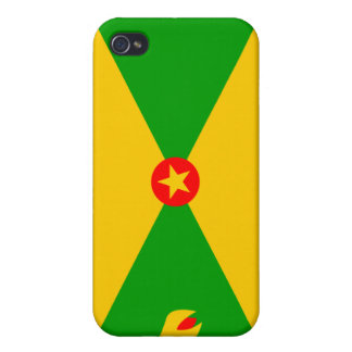 Grenada National Nation Flag  Cover For iPhone 4