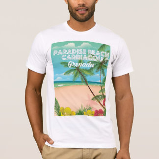 Grenada paradise beach carriacou Travel Poster T-Shirt