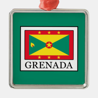 Grenada Silver-Colored Square Decoration
