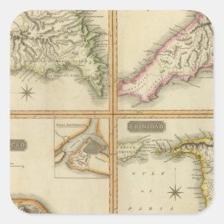Grenada, Tobago, Trinidad, Curacao Square Sticker
