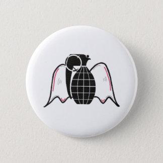 """Grenade Angel"" 6 Cm Round Badge"