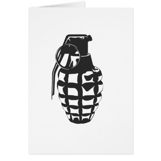 Grenade Greeting Cards
