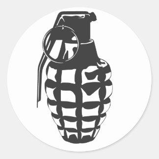 Grenade Classic Round Sticker