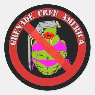Grenade Free America Classic Round Sticker