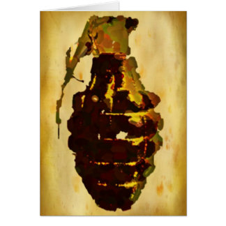 Grenade Greeting Card