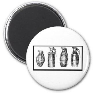 Grenade History 6 Cm Round Magnet