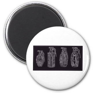 Grenade isolation 6 cm round magnet