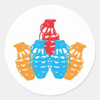 Grenades! Round Sticker