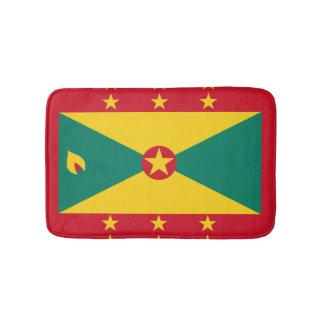 Grenadian flag bath mat