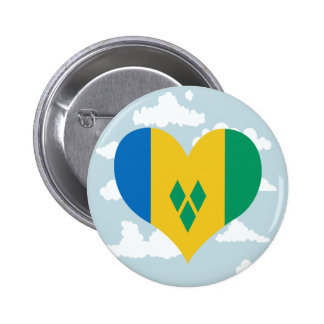 Grenadian Flag on a cloudy background 2 Inch Round Button